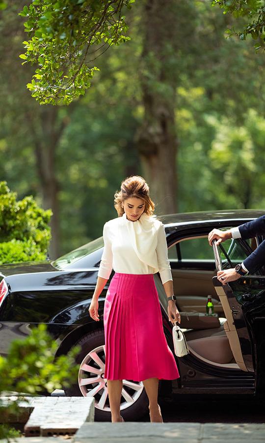 Rania of Jordan and Onesixone Bag