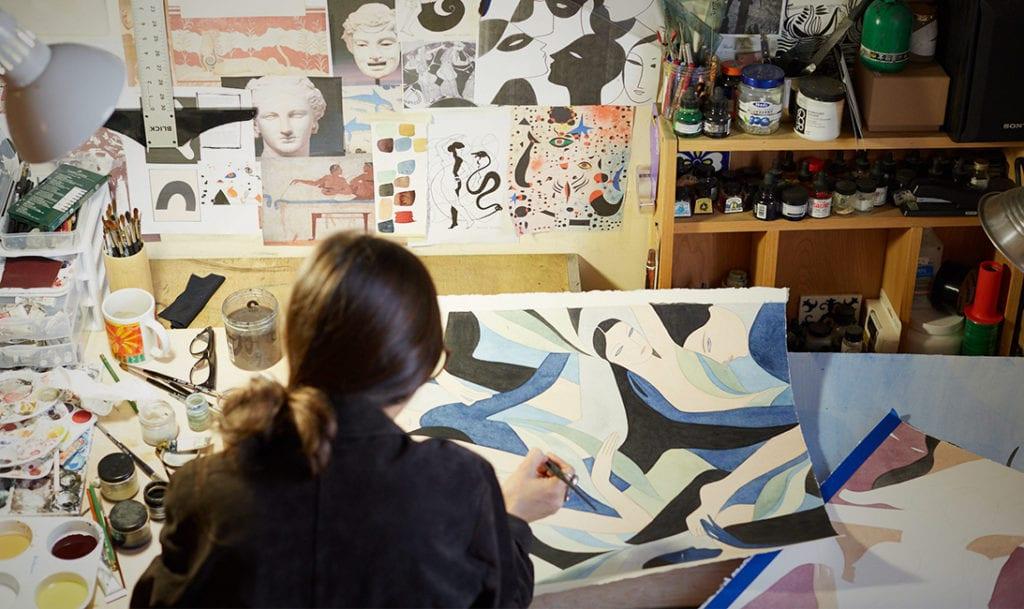Kelly Beeman en su estudio